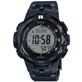 CASIO 卡西歐 PROTREK太陽能登山電波腕錶-47mm/PRW-3100FC-1