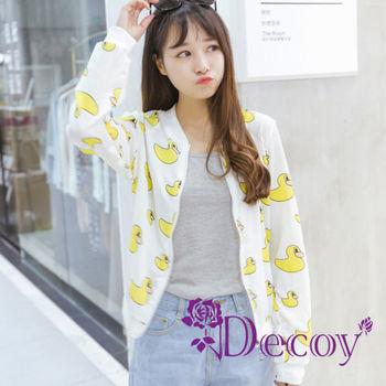 【Decoy】黃色小鴨*雪紡透氣小外套
