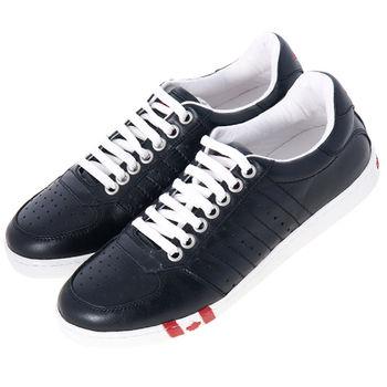 DSQUARED 黑色皮革休閒鞋-42