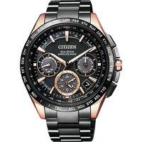 CITIZEN GPS 光動能衛星對時超級鈦金屬腕錶 ^#45 黑 ^#47 43mm C