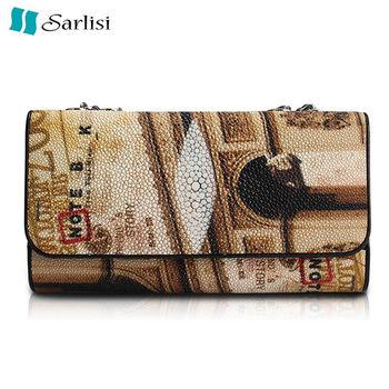 【Sarlisi】古典珍珠魚真皮包(彩色)