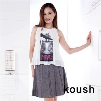 【kuosh】英倫風無袖上衣(NS-6227)