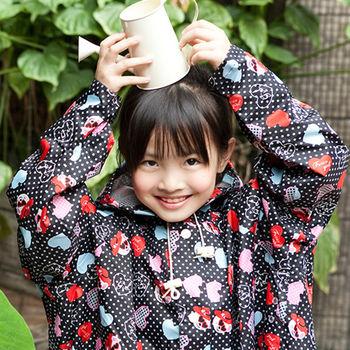 rainstory雨衣-愛心熊兒童連身甜美雨衣