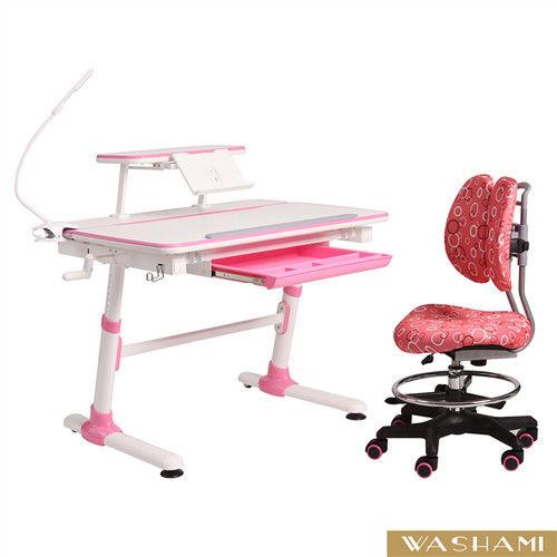 WASHAMl-WSH日式快樂兒童升降學習桌椅(尊爵版全動可調)