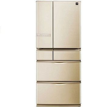 SHARP 夏普 601L 六門環保冰箱 SJ-XF60AT-T《日本原裝、奈米低溫脫臭、一級節能》-隨貨送原廠贈品