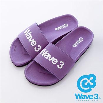 WAVE3(女) - 健康足底印模一片橡膠拖鞋 - 紫