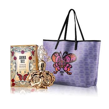 【Anna Sui安娜蘇】波希女神性感香氛限量3件組(淡香水30ml+托特包+試管香)