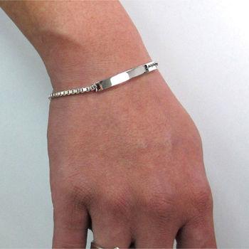 ART64 925情侶手鍊刻字訂製對鍊-微笑手鍊 男款
