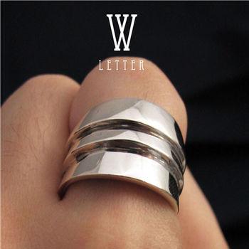 ART64 訂製戒指-造型戒 W-Ring 純銀戒指