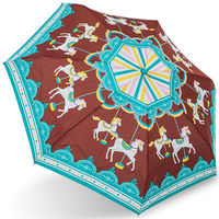 rainstory雨傘 ^#45 旋轉木馬 ^#40 咖啡 ^#41 抗UV迷你口袋傘