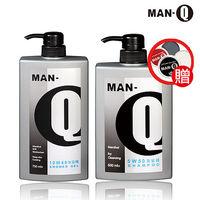 ~MAN ^#45 Q~清涼控油洗沐組 ^#40 5W50洗髮精X1、10W40沐浴精X1