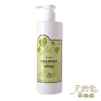 北海道‧天然堂 無矽配方天然馬油洗髮乳500ml