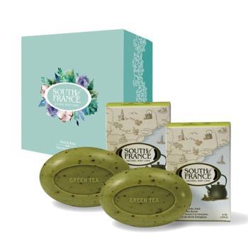 South of France 南法馬賽皂 普羅旺斯綠茶 馬卡龍手工皂禮盒組 170g(2入/盒)