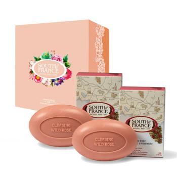 South of France 南法馬賽皂 玫瑰香頌 馬卡龍手工皂禮盒組 170g(2入/盒)