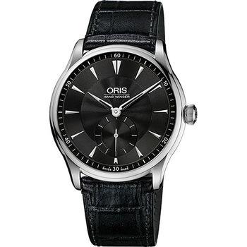 Oris Artelier 手上鍊小秒針腕錶-黑/40mm 0139675804054-0752106