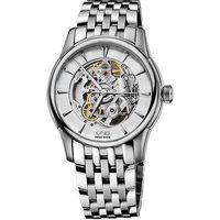 ORIS Artelier Skeleton 藝術家雙鏤空機械腕錶 ^#45 銀 ^#47