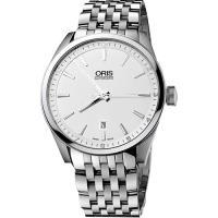 Oris ARTIX DATE 新大錶冠機械腕錶~銀 42mm 0173376424051