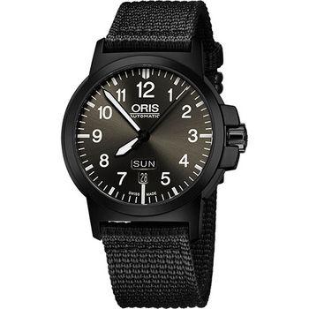 Oris BC3 Advanced 日曆星期機械腕錶-鐵灰x黑/42mm 73576414733-0752224B