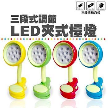 【LIVION】LED三段亮度夾燈