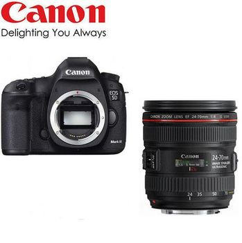 [64G+原電全配]【Canon】5D Mark III+24-70mm  F4L 變焦組 / 5D3 (公司貨)