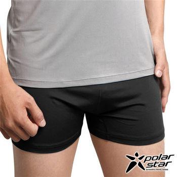PolarStar 男 X-Static® 銀纖維 排汗快乾四角內褲 黑 P10168 清爽|柔軟|透氣