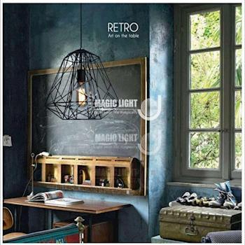 【光的魔法師 Magic Light】現代美式鄉村北歐建構線吊燈 - 小款