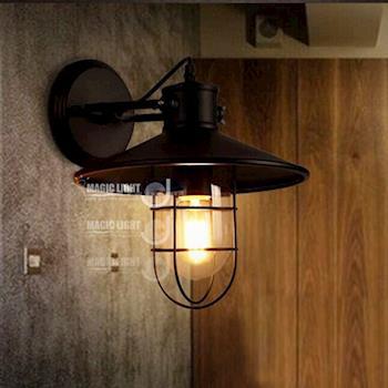 【光的魔法師 Magic Light】酒窖壁燈 Loft鄉村工業風(複古美樓梯陽台鐵藝倉庫吸頂燈)