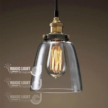 【光的魔法師 Magic Light】LOFT 簡約北歐宜家 吧台餐廳燈臥室藝術(小吊鐘吊燈)