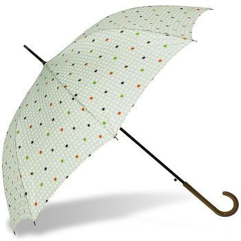 rainstory雨傘-樂活點點(粉綠)抗UV自動開直骨傘