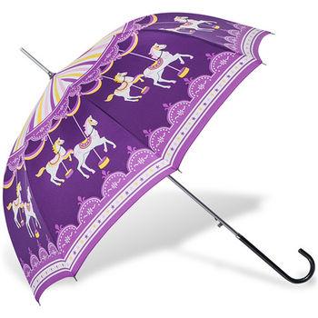rainstory雨傘-旋轉木馬(紫)抗UV自動開直骨傘