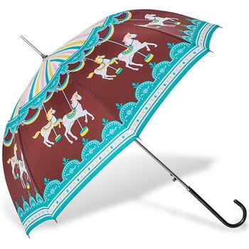 rainstory雨傘-旋轉木馬(咖啡)抗UV自動開直骨傘