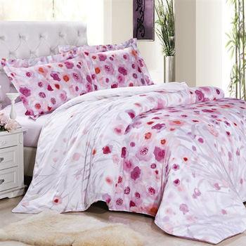 《辛西莉亞》特大四件式天絲兩用被床包組