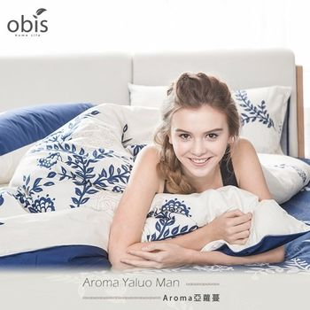 【obis】100%純棉雙人加大6*6.2尺床包兩用被組-亞蘿蔓
