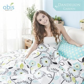 【obis】100%純棉雙雙人加大6*6.2尺床包兩用被組-蒲公英花園