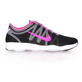 【NIKE】AIR ZOOM FIT 2 女訓練鞋- 健身 避震 慢跑 黑粉