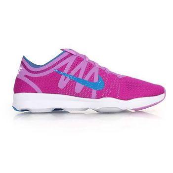 【NIKE】AIR ZOOM FIT 2 女訓練鞋- 健身 避震 慢跑 桃紅藍