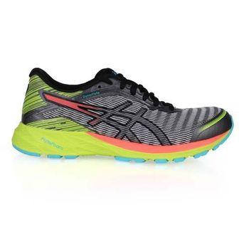 【ASICS】DYNAFLYTE 女慢跑鞋- 路跑 輕量 灰螢光綠
