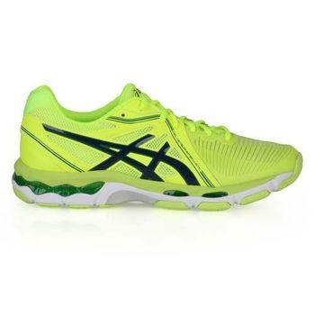 【ASICS】GEL-NETBURNER BALLISTIC 男排羽球鞋 螢光黃綠黑