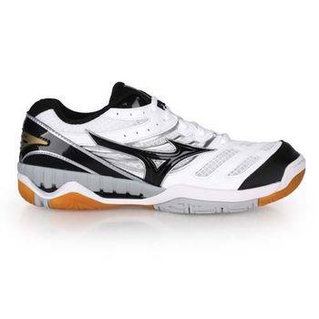 【MIZUNO】WAVE RYDEEN 男排球鞋- 羽球鞋 美津濃 白黑金