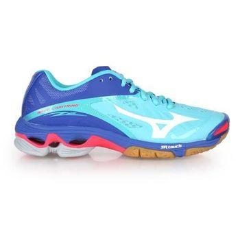 【MIZUNO】WAVE LIGHTNING Z2 女排球鞋- 羽球鞋 水藍