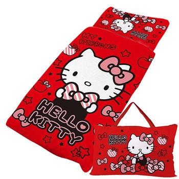 【享夢城堡】HELLO KITTY 貼心小物系列-鋪棉兩用兒童睡袋(紅)