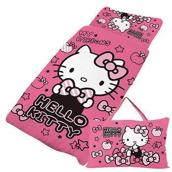 【享夢城堡】HELLO KITTY 貼心小物系列-鋪棉兩用兒童睡袋(粉)