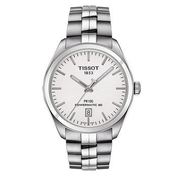 TISSOT 天梭 PR 100 簡約時尚男用大三針機械腕錶/39mm/T1014071103100