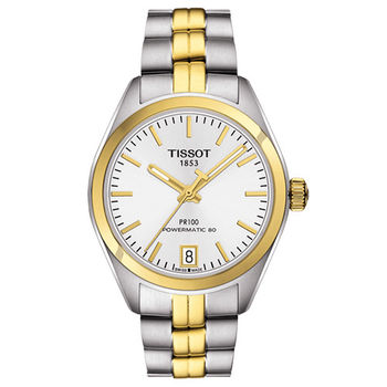 TISSOT 天梭 PR 100 高尚簡約女用機械腕錶/33mm/T1012072203100