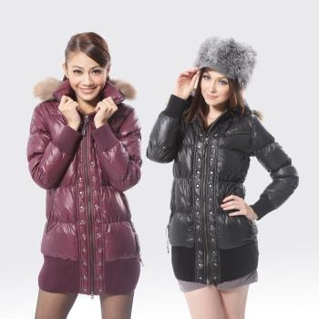 【SAMLIX山力士】JIS90%羽絨防潑水保暖外套#373