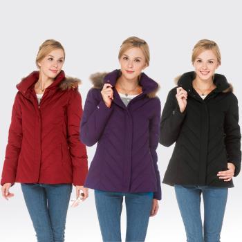 【SAMLIX山力士】JIS90%羽絨防潑水保暖外套#37912