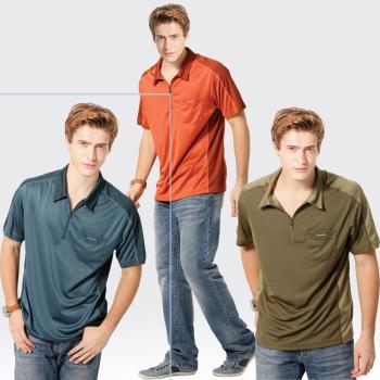 【SAMLIX山力士】男款M-XXL 台灣製 吸濕排汗 椰碳紗 短袖 POLO衫#SP105(橘色.丈青.棕色)