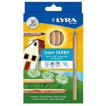 【德國 LYRA 彩繪系列】三角原木色鉛筆(17.5cm)12色 3711120