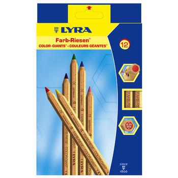【德國 LYRA 彩繪系列】六角原木色鉛筆(12色) 3931120
