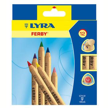 【德國 LYRA 彩繪系列】三角原木色鉛筆(12cm)12色 3611120